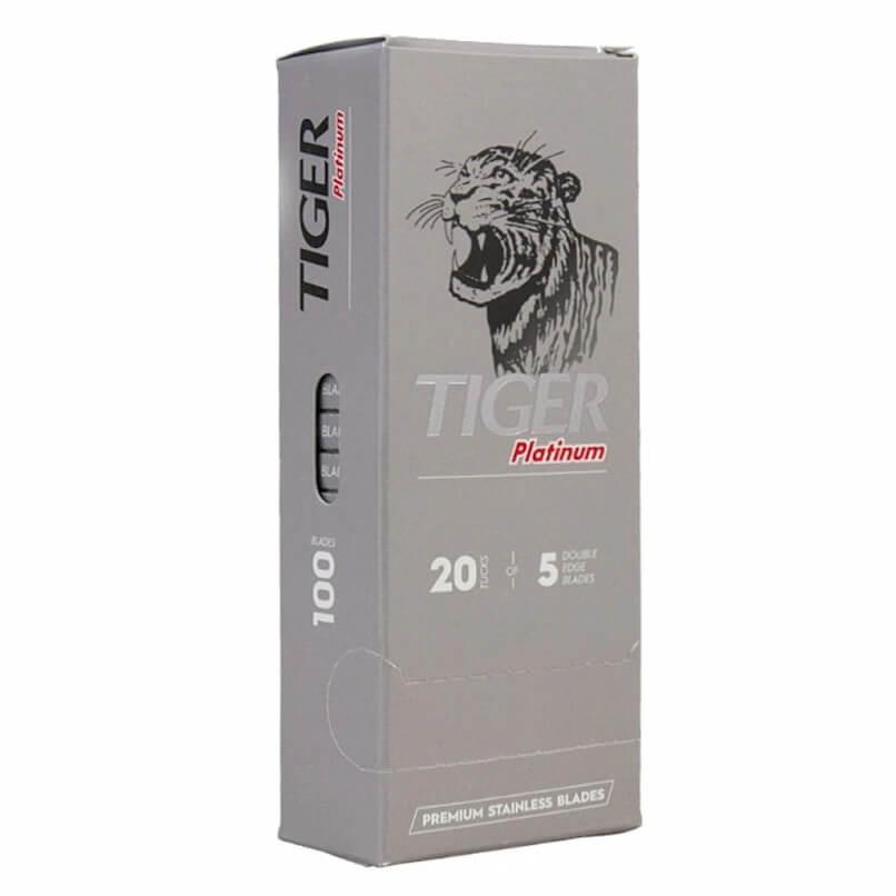 100X Lâminas Tiger Platinum Double Edge Safety Razor