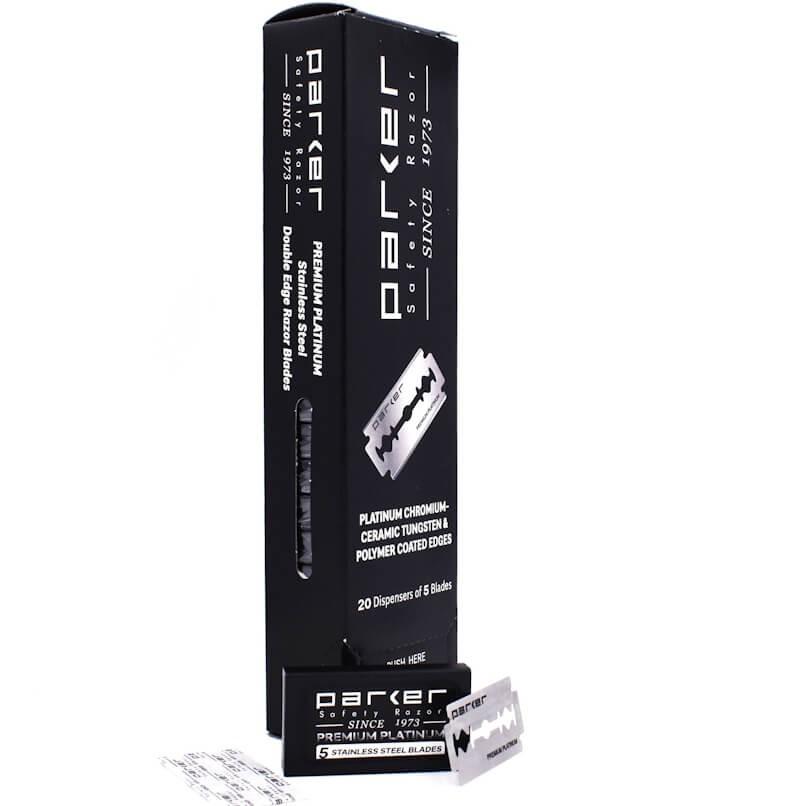 100X - Parker Premium Platinum Double Edge Blades