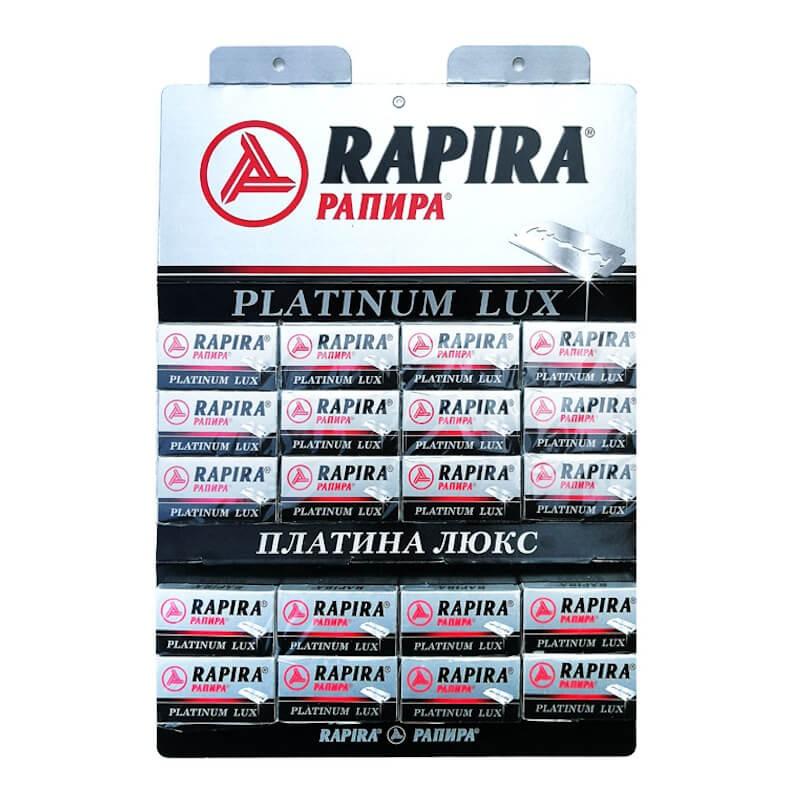 100X - Rapira Platinum Lux Shaving Blades