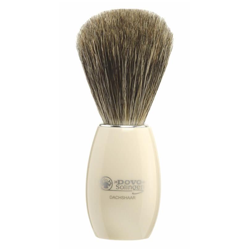 Dovo White Acrylic Pure Badger Shave Brush (918118)