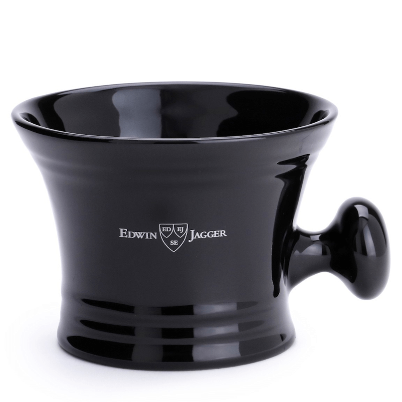Edwin Jagger Black Porcelain Shaving Bowl Handle