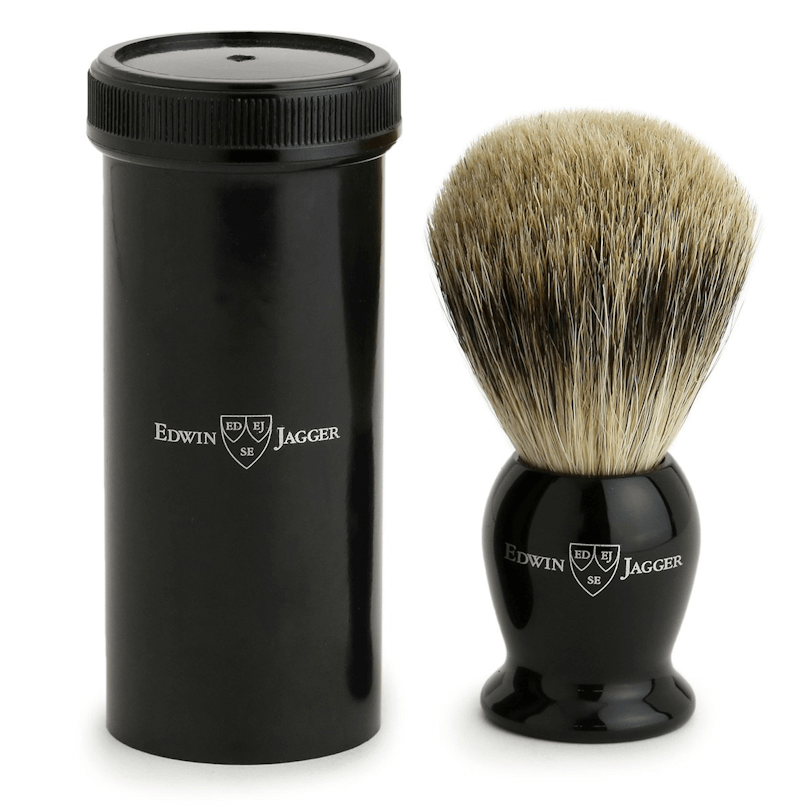 Edwin Jagger Ebony Best Badger Travel IETSBBB