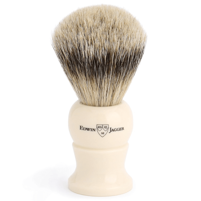 Edwin Jagger Ivory Synthetic Silver Tip L EJ287