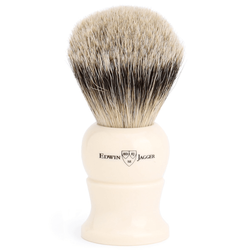 Edwin Jagger Ivory Synthetic Silver Tip XL EJ287