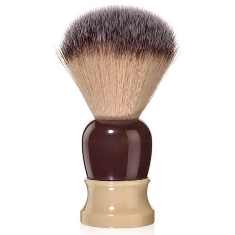 Fine Classic Angel Hair Fiber Shave Brush Ivory/Crimson