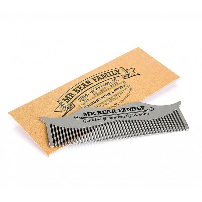 Mr Bear Family Moustache Steel Comb