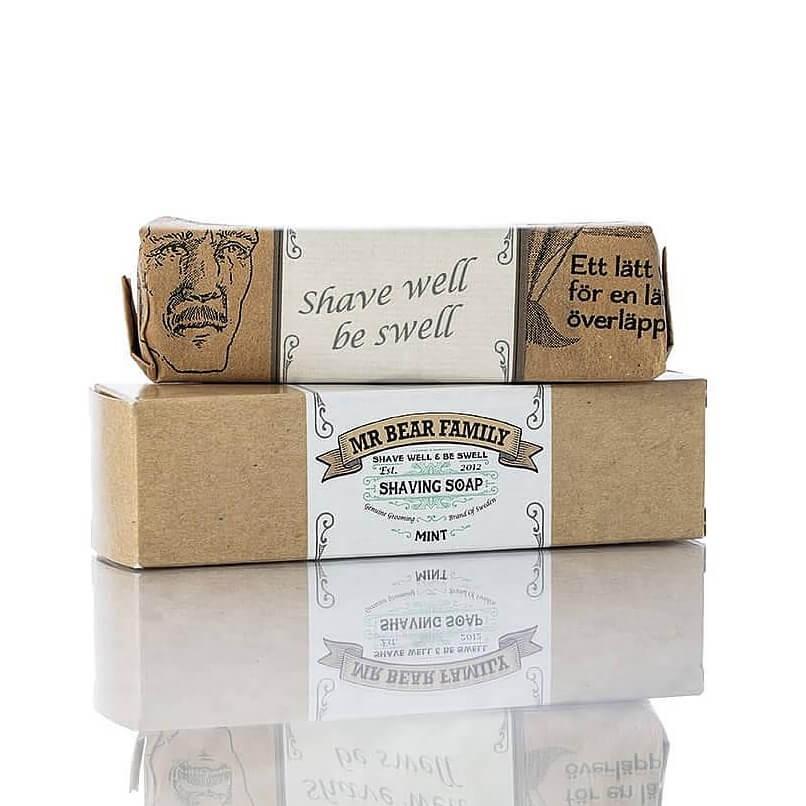 Mr Bear Family Shaving Soap Mint 80g