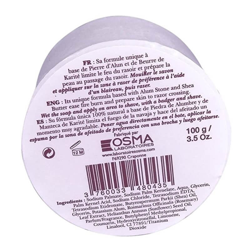 Recarga Osma Shaving Soap Alum Crystal Shea Butter 100g