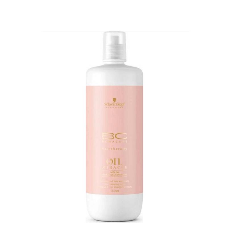 Schwarzkopf Rose Oil Champô para cabelo e couro cabeludo 1000ml