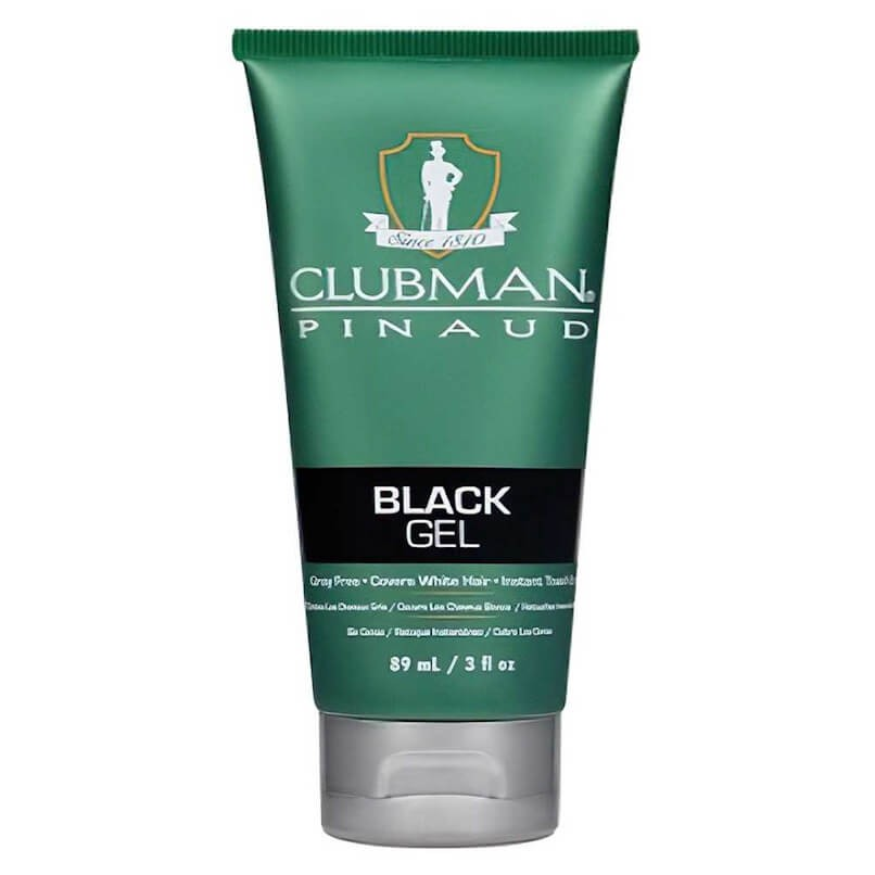Temporary Hair Color Gel Black Clubman Pinaud 89ml