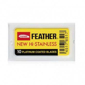10 Lâminas Feather New Hi-Stainless