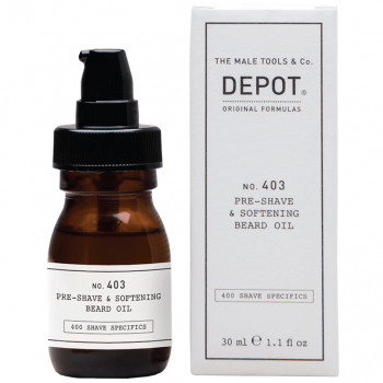 DEPOT No.403 Pre-Shave & Softening Beard Oil 30ml