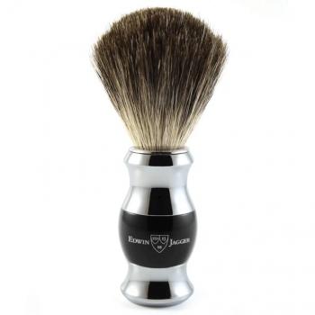 Edwin Jagger Black & Chrome Pure Badger 81SB356CR
