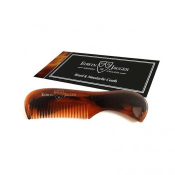 Edwin Jagger Tortoiseshell Beard & Moustache Comb BMC03