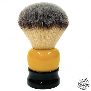Fine Angel Hair Brush 'Stout' 24mm Black and Yellow