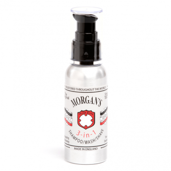 Morgans 3 in 1 Shampoo, Wash and Shave 100ml