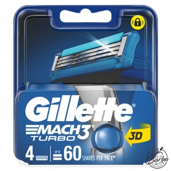 Recarga Gillette Mach3 Turbo 4 Lâminas