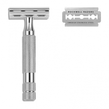 Rockwell 2C Double Edge Safety Razor White Chrome