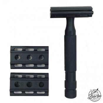 Rockwell 6S Adjustable Black Safety Razor