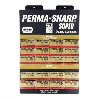 100X - Perma-Sharp Super Double Edge Razor Blades