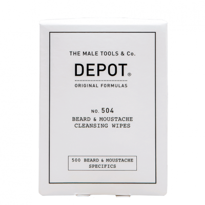 DEPOT No.504 Beard & Moustache Cleansing Wipes x12