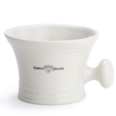 Edwin Jagger Ivory Porcelain Shaving Bowl Handle